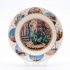 Сувенирная керамическая белая тарелка - Собор Василия Блаженного4 19,5см