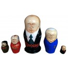 Матрешка Путин, советские и российские политики