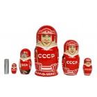 Матрешка Спортсмены СССР чемпионата мира 1972 года