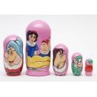 Матрешка Snow White and the Seven Dwarfs Белоснежка и семь гномов3