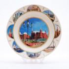 Сувенирная керамическая белая тарелка - Государственный Исторический Музей 19,5см