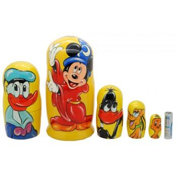 Матрешка Mickey mouse Микки Маус3
