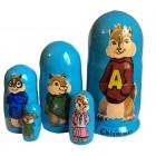 Матрешка Alvin and chipmunks Элвин и бурундуки