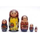 Матрешка традиционная семья2