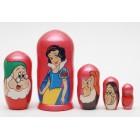 Матрешка Snow White and the Seven Dwarfs Белоснежка и семь гномов4