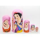 Матрешка Snow White and the Seven Dwarfs Белоснежка и семь гномов