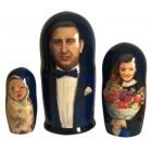 Матрешка по фотографии семья из трех человек