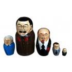 Матрешка Сталин, советские и российские политики