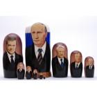 Матрешка Путин, Медведев Политики СССР и России десятка, высота 25см